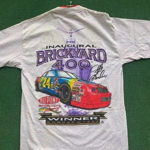 Vintage Jeff Gordon Brickyard 400 Shirt 1994 L